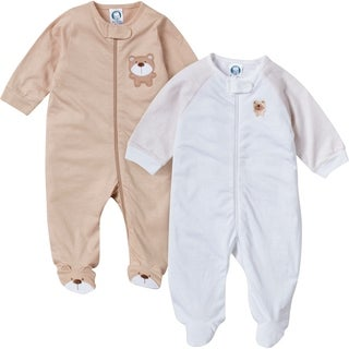 Gerber Zip Front Sleep 'n Play Bear - 2 Pack - 0-3 Months