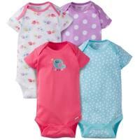 Gerber Baby Girl Onesies Birdie - 4 Pack - 24 Months