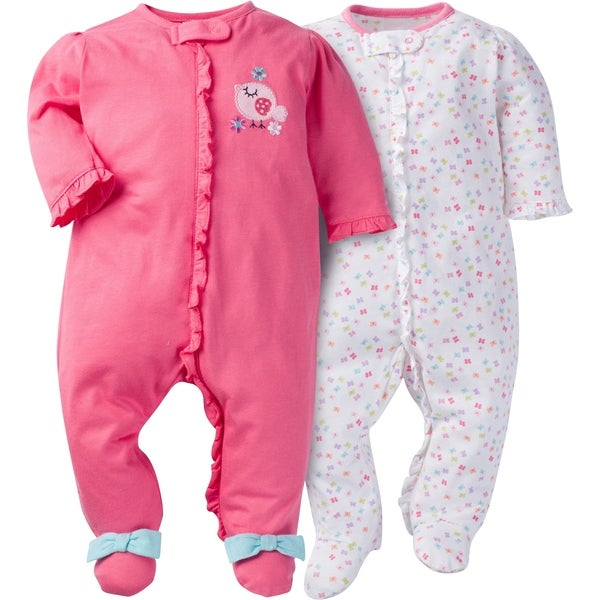 ad31b3baae Shop Gerber Zip Front Sleep  n Play Birdie - 2 Pack - 3-6 Months - Free  Shipping On Orders Over  45 - Overstock.com - 24189862