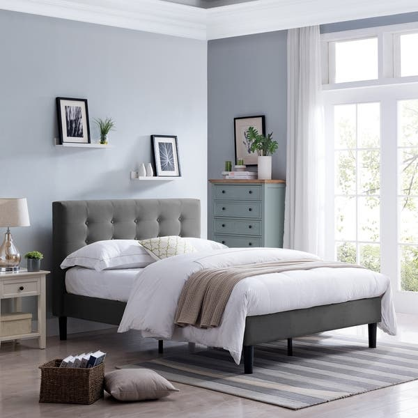 Agnew Upholstered Queen Size Platform Bed By Christopher Knight Home On Sale Overstock 24190666