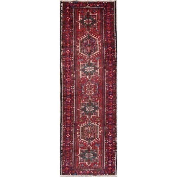 "Copper Grove Kurikka Geometric Handmade Wool Heirloom Item Runner Rug - 10'11"" x 3'6"" runner"