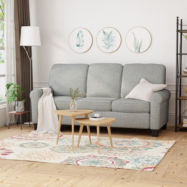 Davies Traditional 3-Seater Sofa by Christopher Knight Home. Opens flyout.