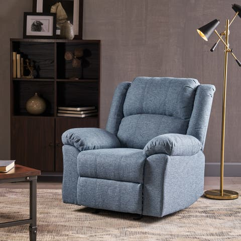 Kearney Traditional Glider Recliner with Pillow Top Arms by Christopher Knight Home