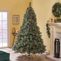 7-foot Cashmere Pine and Mixed Spruce Pre-Lit LED or Unlit Artificial Christmas Tree by Christopher Knight Home