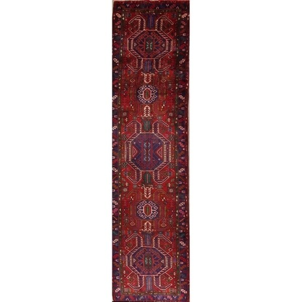 Copper Grove Liberec Hand Knotted Red Tribal Geometric Heriz Persian Wool Heirloom Item Area Rug