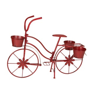 Glitzhome Hand painted Metal Bicycle Planter