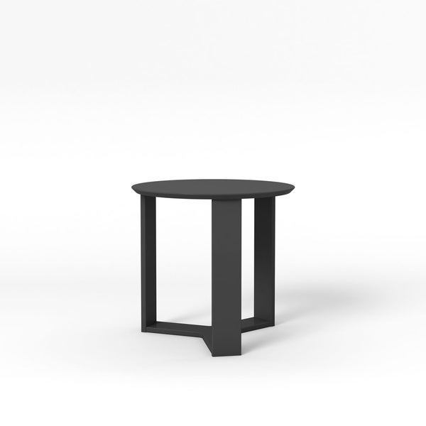 HomeRoots Furniture Madison 2.0 Round Accent End Table in Black Gloss - 23.85""