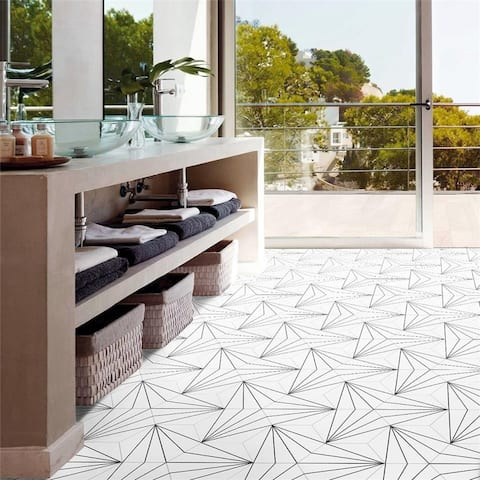 SomerTile 8.625x9.875-inch Madama Hex Blanco Porcelain Floor and Wall Tile (25 tiles/11.56 sqft.)