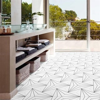 SomerTile 8.625x9.875-inch Madama Hex Blanco Porcelain Floor and Wall Tile (25 tiles/11.19 sqft.)