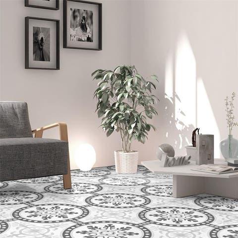 SomerTile 9.75x9.75-inch Mull Grey Porcelain Floor and Wall Tile (16 tiles/11.11 sqft.)