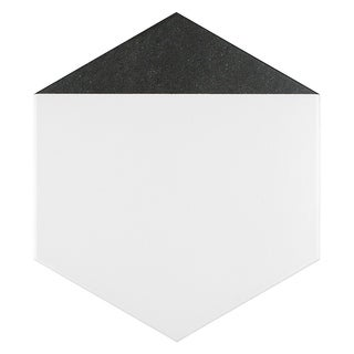 SomerTile 8.625x9.875-inch Summit Hex Nero Porcelain Floor and Wall Tile (25 tiles/11.19 sqft.)
