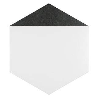 SomerTile 8.625x9.875-inch Summit Hex Nero Porcelain Floor and Wall Tile (25 tiles/11.56 sqft.)