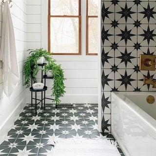 SomerTile 9.75x9.75-inch Cilento Nero Porcelain Floor and Wall Tile (16 tiles/10.76 sqft.)