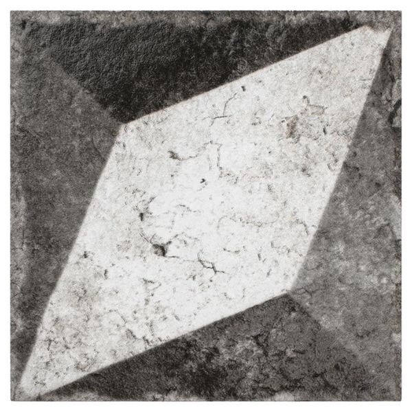 SomerTile 6x6-inch Nosta Deco Porcelain Floor and Wall Tile (40 tiles/10.85 sqft.)