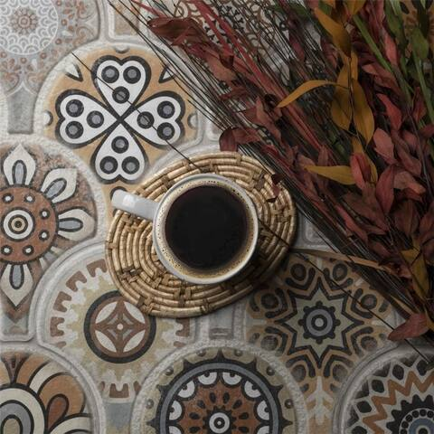 SomerTile 14.5x16.125-inch Escala Colors Decor Porcelain Floor and Wall Tile (14 tiles/14.27 sqft.)