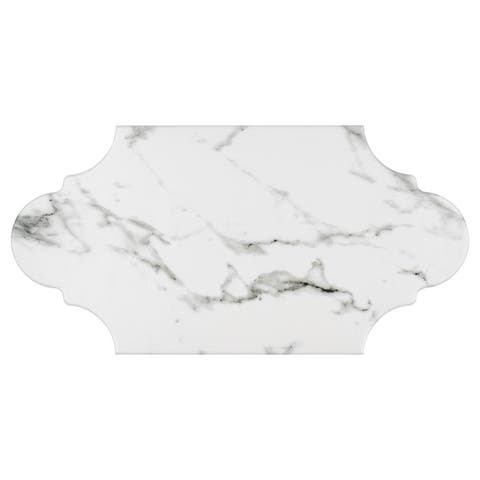 SomerTile 6.375x12.875-inch Intemporel Calacatta Provenzal Porcelain Floor and Wall Tile (20 tiles/9.43 sqft.)