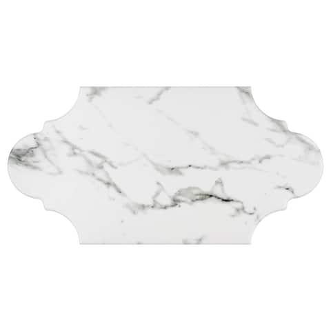 SomerTile 6.375x12.875-inch Intemporel Calacatta Provenzal Porcelain Floor and Wall Tile