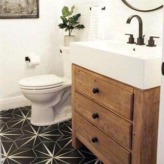 SomerTile 8.625x9.875-inch Spear Hex Nero Porcelain Floor and Wall Tile (25 tiles/11.56 sqft.)