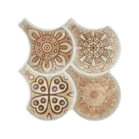 SomerTile 14.5x16.125-inch Escala Granada Nature Decor Porcelain Floor and Wall Tile (14 tiles/14.27 sqft.)