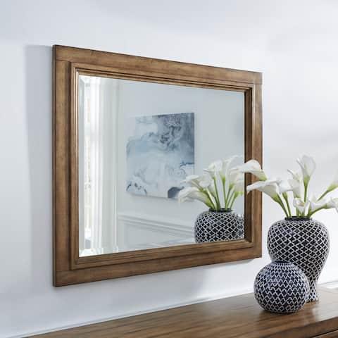 Carbon Loft Wallace Wood-framed Landscape Wall Mirror