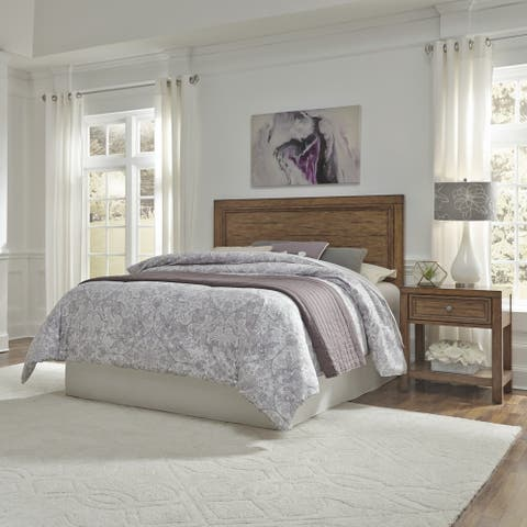 Carbon Loft Wallace Queen and Full Headboard and Nightstand Set