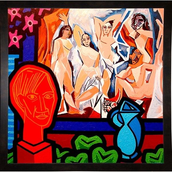 "Homage To Picasso 1-JOHNOL125582 Print 6.75""x6.75"" by John Nolan"