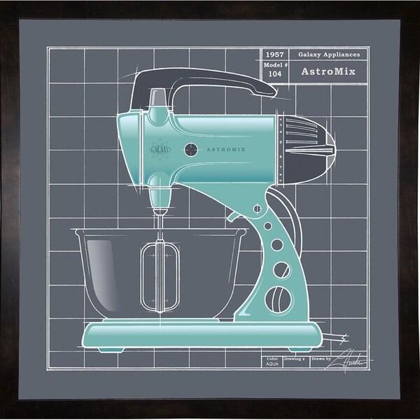"Galaxy Mixer - Aqua-LARHUN127986 Print 16""x16"" by Larry Hunter"