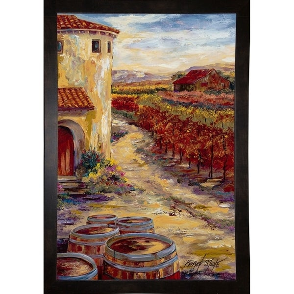 "Oak Barrels-KARSTE86782 Print 22.75""x15.25"" by Karen Stene"