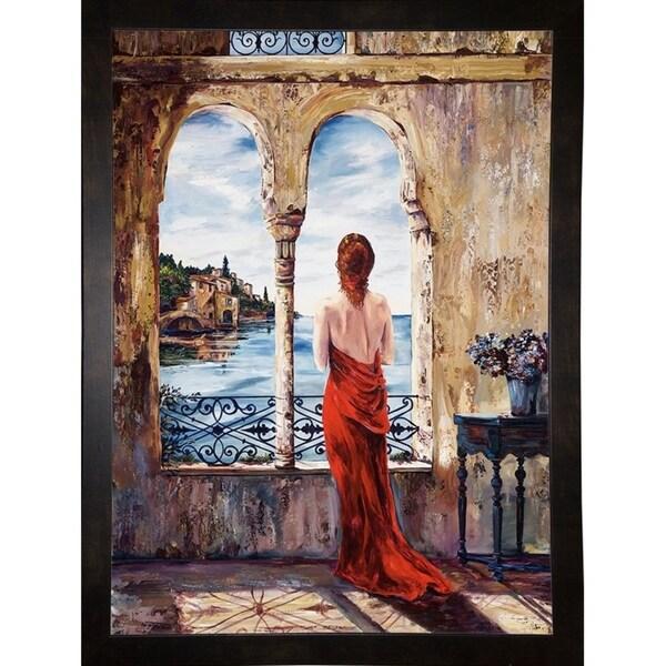 """Serene In Red-KARSTE87294 Print 36.25""""x26.5"""" by Karen Stene"""