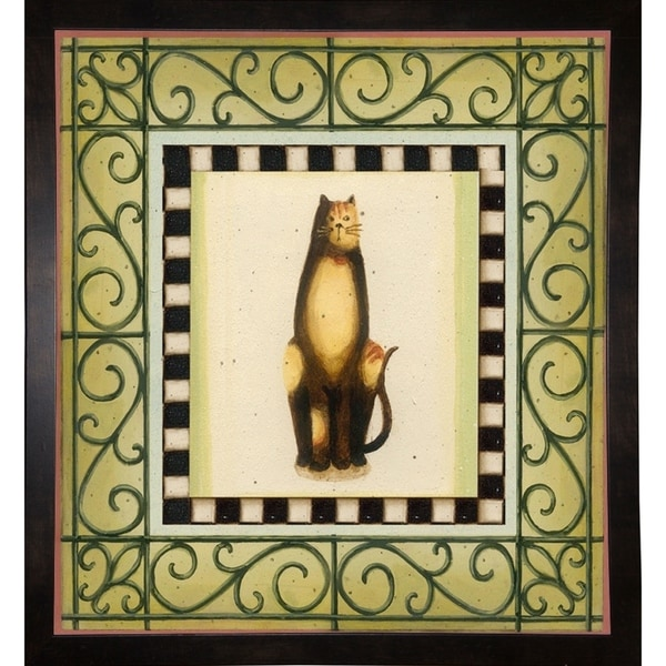 """Cat In Frame 2-LISAUD67088 Print 5""""x4.75"""" by Lisa Audit"""