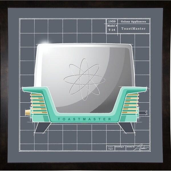 "Galaxy Toaster - Aqua-LARHUN128872 Print 16""x16"" by Larry Hunter"