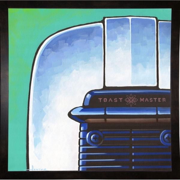 "Galaxy Toaster - Green-LARHUN127995 Print 20""x20"" by Larry Hunter"