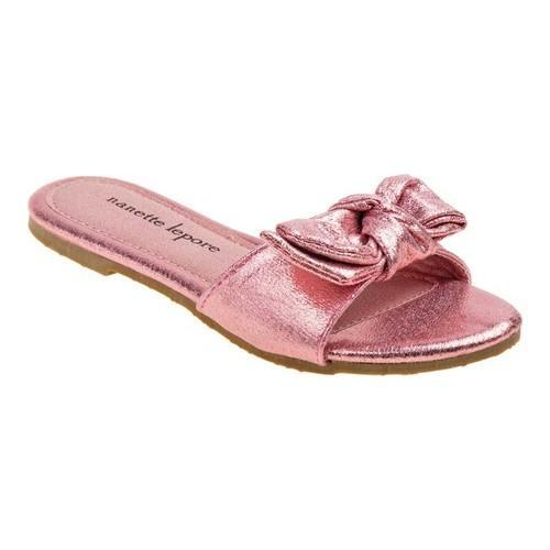 3cdcc21f534f Shop Girls  Nanette Lepore NL71416M Knotted Bow Slide Pink - Free Shipping  On Orders Over  45 - Overstock.com - 20530067