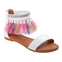 Girls Nanette Lepore NL71400M Ankle Cuff Sandal White