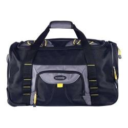 Travelers Club Sierra Madre 21in Rolling Sports/Weekender Duffel Black/Gray