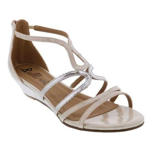 Shop Women S Bellini Gwen Strappy Wedge Sandal White