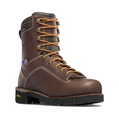 Men's Danner Quarry USA 8in Brown Full Grain Leather