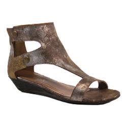 Women's Diba True Kite Tail Wedge Sandal Gold Metallic Leather