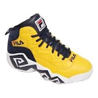 Men's Fila MB Basketball Shoe Gold Fusion/Fila Navy/White