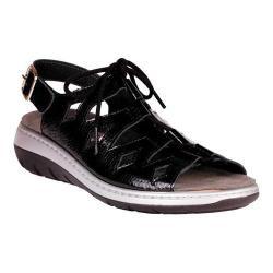 Women's Helle Comfort Jarla Strappy Sandal Black Leather