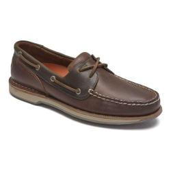Men's Rockport Perth Loafer Beeswax/Dark Brown Leather