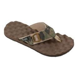Men's Flojos Estiler Thong Sandal Camo/Tan Polyurethane (More options available)