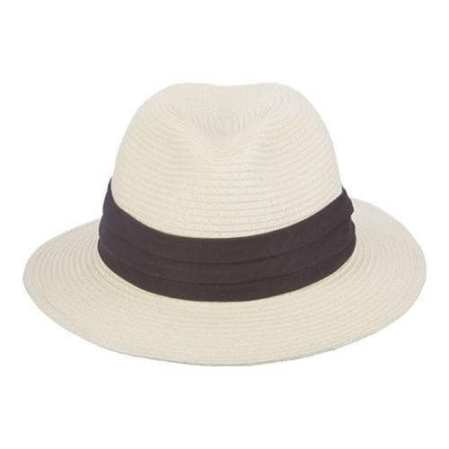 Men's Scala MS32 Toyo Outback Hat with Feather Ivory