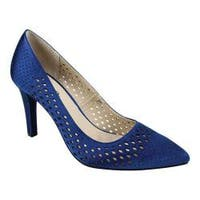 Women's Rialto Moreen Pump Royal Blue Satin Fabric