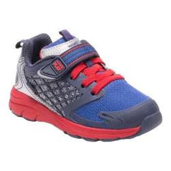 Boys' Stride Rite M2P Breccen Sneaker Navy Leather/Mesh (More options available)