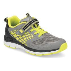 Boys' Stride Rite M2P Breccen Sneaker Grey/Lime Leather (More options available)