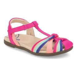 Girls' Stride Rite SRT Dana Open Heel Strappy Sandal Pink Multi Leather