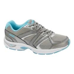 Women's Avia AVI-Execute II Running Shoe Chrome Silver/Metallic Steel Grey/Topaz Blue (More options available)