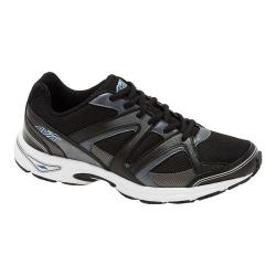 Men's Avia AVI-Execute II Running Shoe Black/Metallic Iron Grey/Chrome Silver