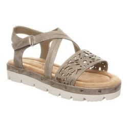Girls' Bearpaw Jane Strappy Sandal Pewter Faux Leather (4 options available)